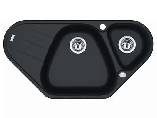 Produktabbildung Franke Antea AZG 661-E Onyx - 114.0477.990 Granitspüle Exzenterbetätigung