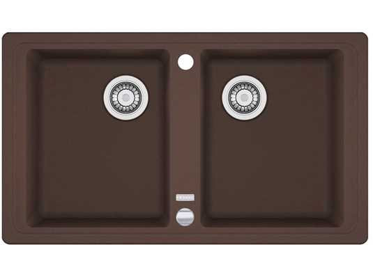 Draufsicht von Franke Basis BFG 620 Chocolate Granit-Spüle