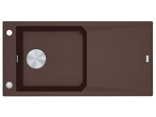 Franke FXG 611-100 Chocolate - 114.0512.336 Granitspüle Exzenterbetätigung