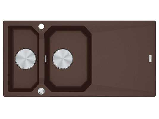 Franke FXG 661 Chocolate - 114.0512.424 Granitspüle Exzenterbetätigung