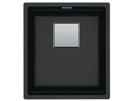 Produktabbildung Franke Kubus 2 KNG 110-37 Onyx - 11639 Granitspüle Exzenterbetätigung