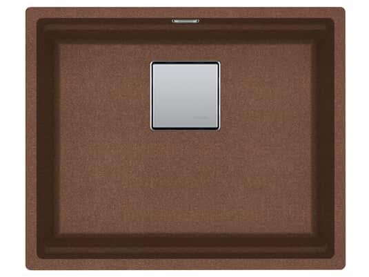 Produktabbildung Franke Kubus 2 KNG 110-52 Copper Gold - 11963 Granitspüle Exzenterbetätigung