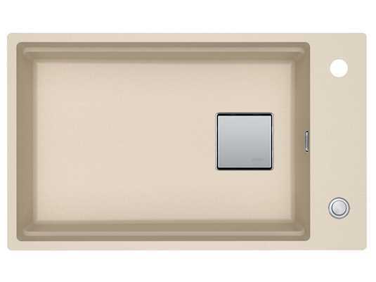 Franke Kubus 2 KNG 110-62 Beige - 11399 Granitspüle Exzenterbetätigung
