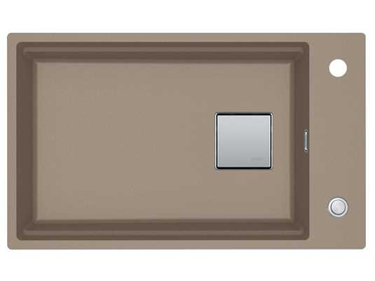 Franke Kubus 2 KNG 110-62 Cashmere - 11712 Granitspüle Exzenterbetätigung