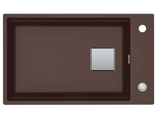 Franke Kubus 2 KNG 110-62 Chocolate - 11536 Granitspüle Exzenterbetätigung