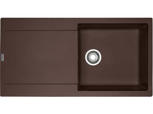 Draufsicht von Franke Maris MRG 611 Chocolate Granit-Spüle