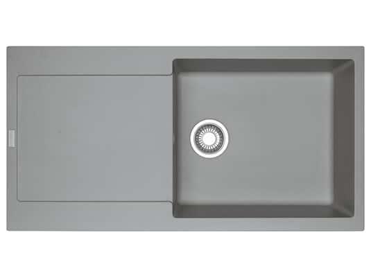 Draufsicht von Franke Maris MRG 611-100 XL Steingrau - 114.0477.372 Granitspüle Exzenterbetätigung
