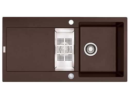 Produktabbildung Franke Maris MRG 651 Chocolate - 114.0477.280 Granitspüle Exzenterbetätigung