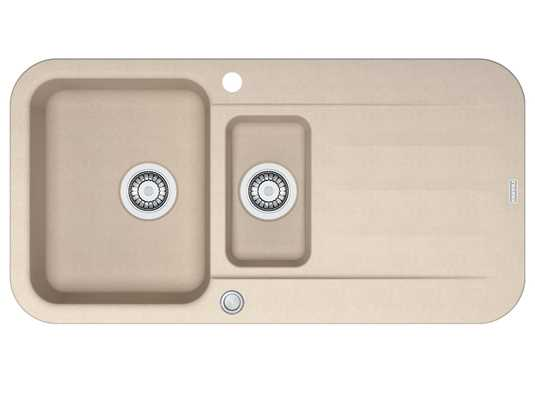 Franke Pebel PBG 651 Beige - 114.0477.114 Granitspüle Exzenterbetätigung
