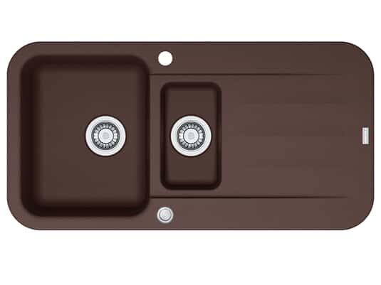 Franke Pebel PBG 651 Chocolate - 114.0477.117 Granitspüle Exzenterbetätigung