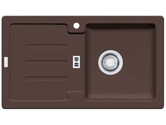 Franke Strata STG 614-78 Chocolate Granitspüle Stopfenventil