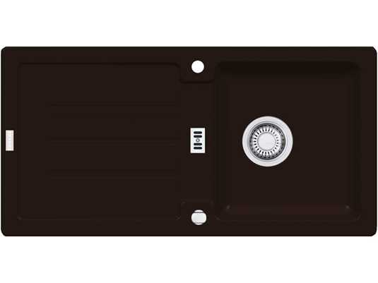 Franke Strata STG 614 Chocolate Granitspüle Exzenterventil