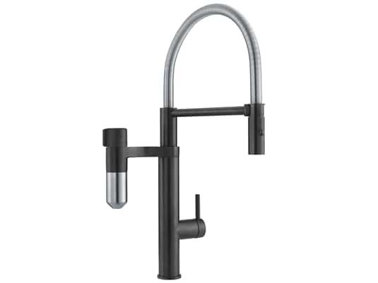 Produktabbildung Franke Vital Semi pro Black Matt / Edelstahl-Optik - 11430 Hochdruckarmatur