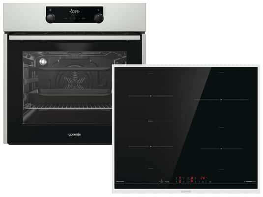 Produktabbildung Gorenje Black Pepper Set E4S - Backofen BOS737E301X + Induktionskochfeld IT643BX autark