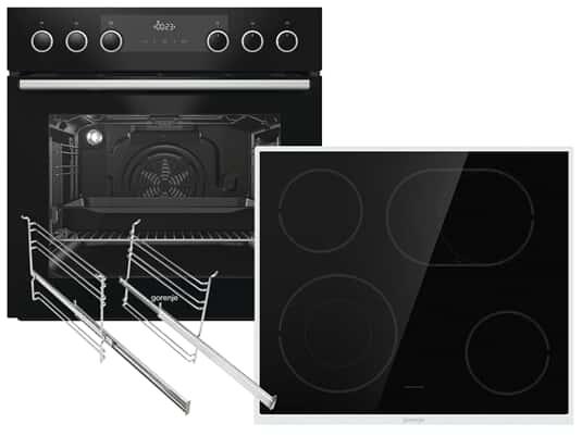 Produktabbildung Gorenje Black Set III Heißluft Einbauherd BC737E28BG + Glaskeramikkochfeld ECD634X