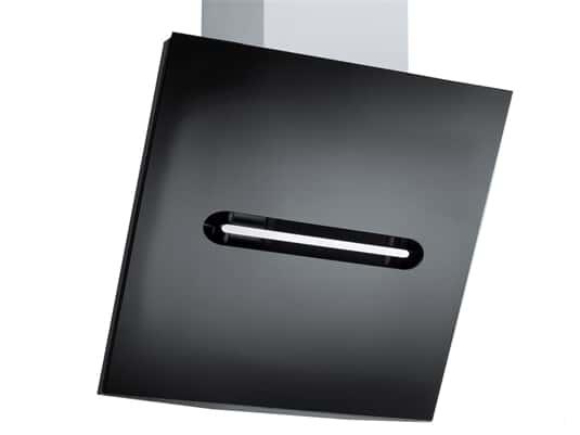 Gorenje DVG 6540 BI Kopffreihaube Edelstahl/ Glas Schwarz