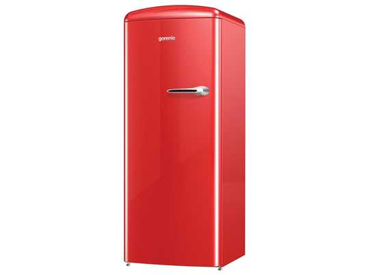 Produktabbildung Gorenje ORB 153 RD-L Stand Kühlschrank Fire Red