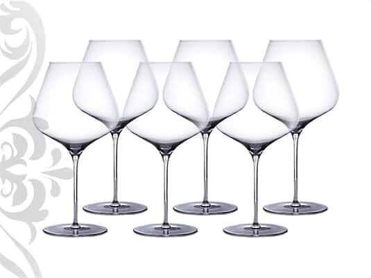 Weingläser Burgunder 6er-Set Kristallglas