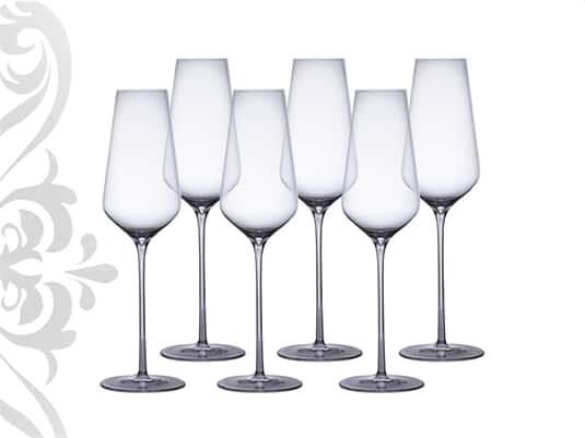 Champagnergläser 6er-Set Kristallglas