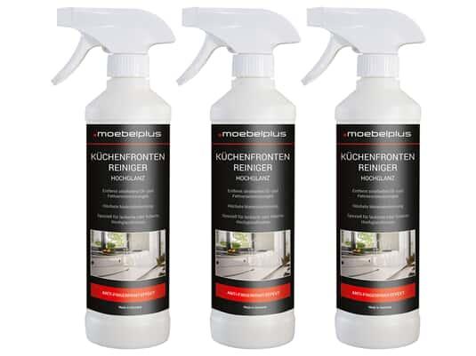 moebelplus Küchenfronten-Reiniger Hochglanz - 3er Set