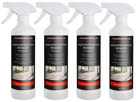 Produktabbildung moebelplus Küchenfronten-Reiniger Hochglanz - 4er Set