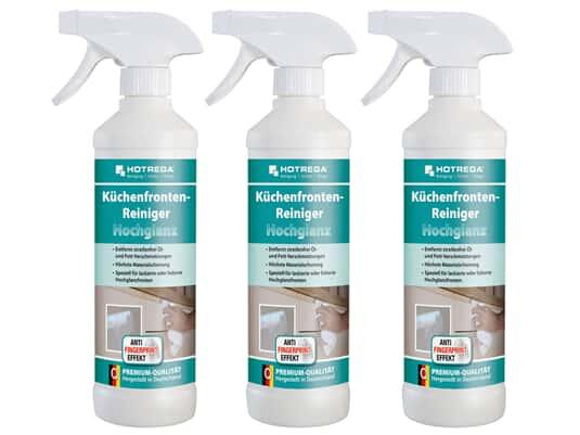 Produktabbildung Hotrega H110234 Küchenfronten-Reiniger - Hochglanz - 3er Set
