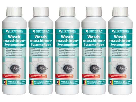 Produktabbildung Hotrega H110290 Waschmaschinen-Systempflege - 5er Set