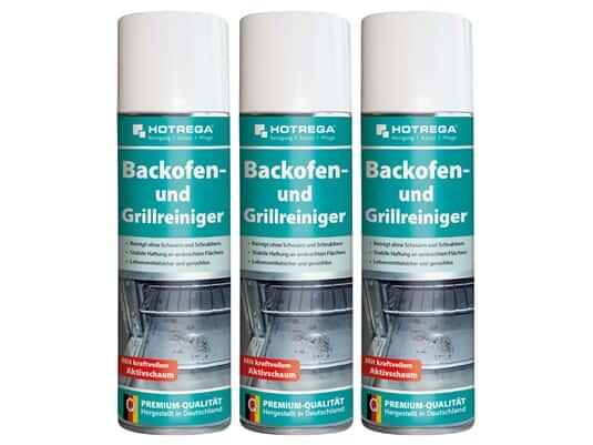 Produktabbildung Hotrega H130940 Backofen- und Grillreiniger - 3er Set