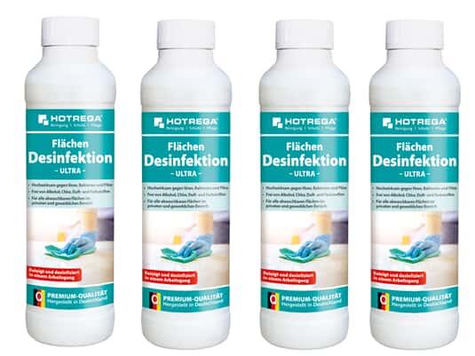 Produktabbildung Hotrega H230129 Desinfektions-Reiniger ultra - Virenschutz - 4er Set