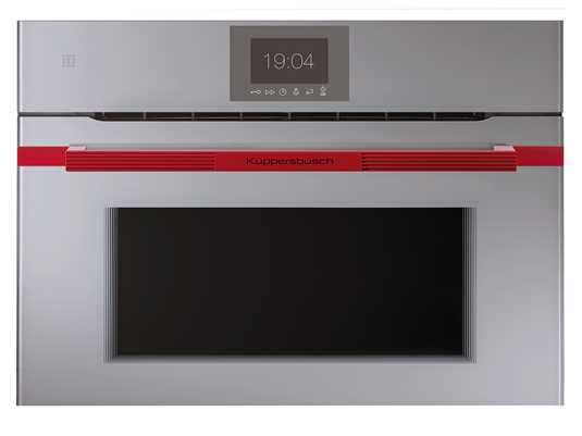 Produktabbildung Küppersbusch CBM 6550.0 GE8 K-Series. 5 Compact Backofen mit Mikrowelle Grau/Hot Chili