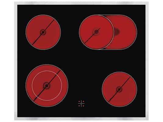 Produktabbildung Oranier KFC9866 - 9866 15 Glaskeramikkochfeld herdgebunden mit Edelstahlrahmen