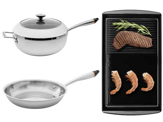 Produktabbildung Oranier SET Chef's Pot 9209 26 + Pfanne 9209 25 + Grill-Platte 9209 11
