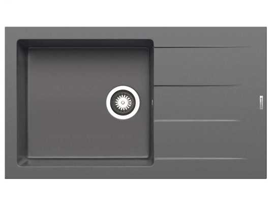 Pyramis Athlos (86x50) 1B 1D Plus Iron Grey Granitspüle