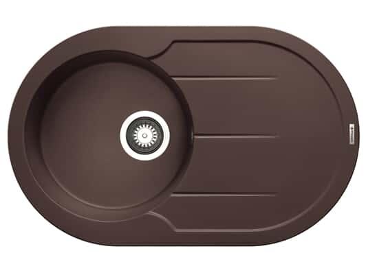 Pyramis Alazia Round (78x49) 1B 1D Chocolate Granitspüle