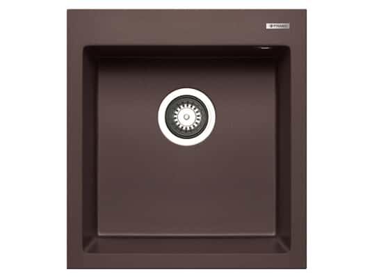 Pyramis Istros (46x50) 1B Chocolate Granitspüle
