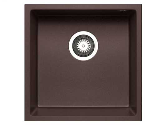 Pyramis Tetragon (40x40) 1B UB Chocolate Granitspüle