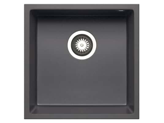 Pyramis Tetragon (40x40) 1B UB Iron Grey Granitspüle