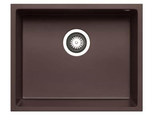 Pyramis Tetragon (50x40) 1B UB Chocolate Granitspüle