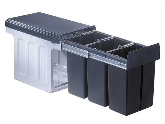 Produktabbildung Wesco Bio Trio Maxi Profi 30 857611-11 Einbau Abfallsammler