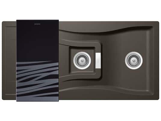 Produktabbildung Schock Waterfall D-150 A Carbonium - WATD150ACAR Granitspüle