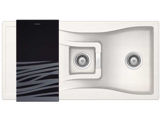 Produktabbildung Schock Waterfall D-150 A Polaris - WATD150APOL Granitspüle