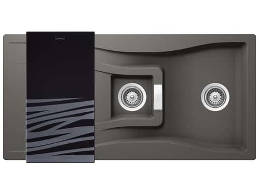 Produktabbildung Schock Waterfall D-150 A Silverstone - WATD150ASIL Granitspüle