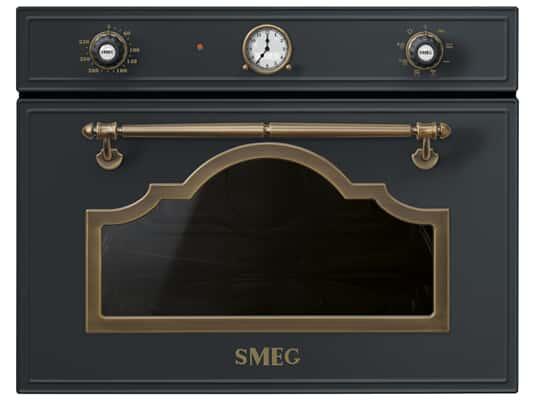 Produktabbildung Smeg SF4750MAO Kompakt Mikrowelle mit Grill Anthrazit-Messing
