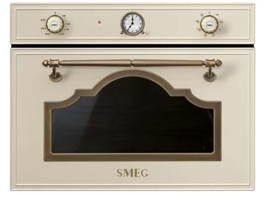 Produktabbildung  Smeg SF4750MPO Kompakt Mikrowelle mit Grill Creme-Messing