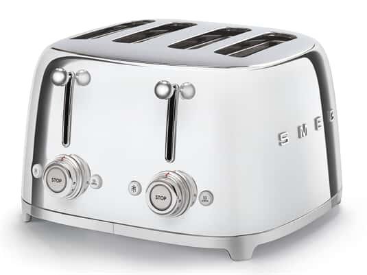 Produktabbildung Smeg TSF03SSEU 4-Schlitz-Toaster Chrom