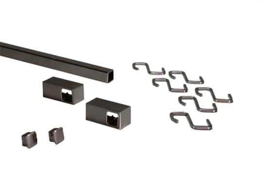 Produktabbildung Sagemüller & Rohrer 42118 Grundset Quadratreling Edelstahl