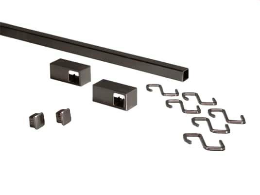 Produktabbildung Sagemüller & Rohrer 42119 Grundset Quadratreling Edelstahloptik