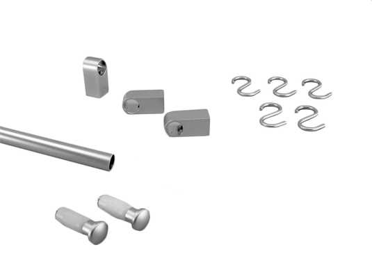 Produktabbildung Sagemüller & Rohrer 47590 Grundset Modern mattchrom (Aluminium)
