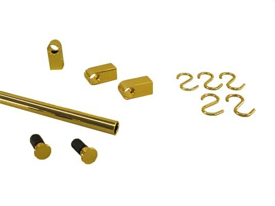 Produktabbildung Sagemüller & Rohrer 47655 Grundset goldfarbig, Endkappe flach
