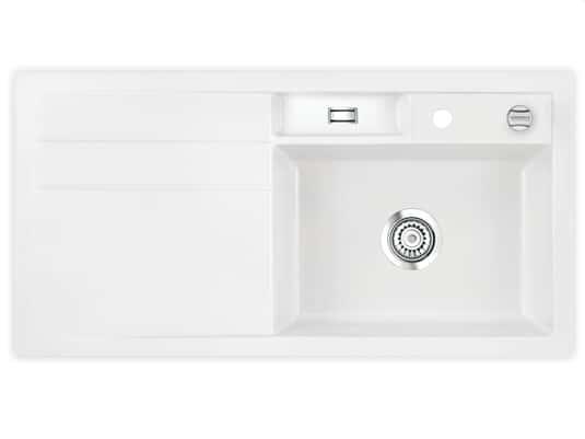 Produktabbildung Systemceram Bela 100 Polar Keramikspüle Excenterbetätigung